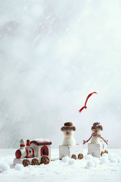 Wall Art - Photograph - Winter Trainset With Snowmen by Amanda Elwell