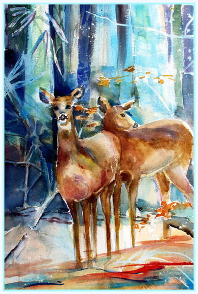 Wall Art - Painting - Winter Travelers by Mindy Newman