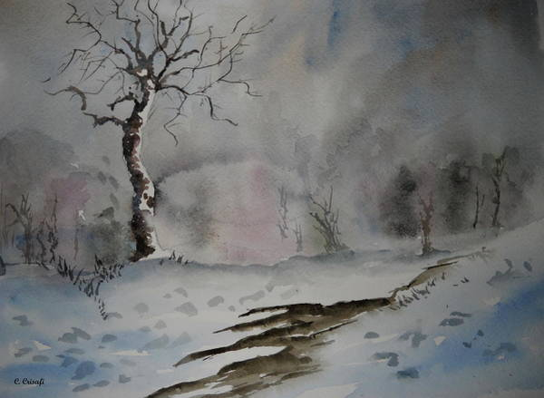 Painting - Winter Tree by Carol Crisafi