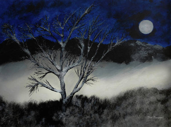 Painting - Winter Tree by Dick Bourgault