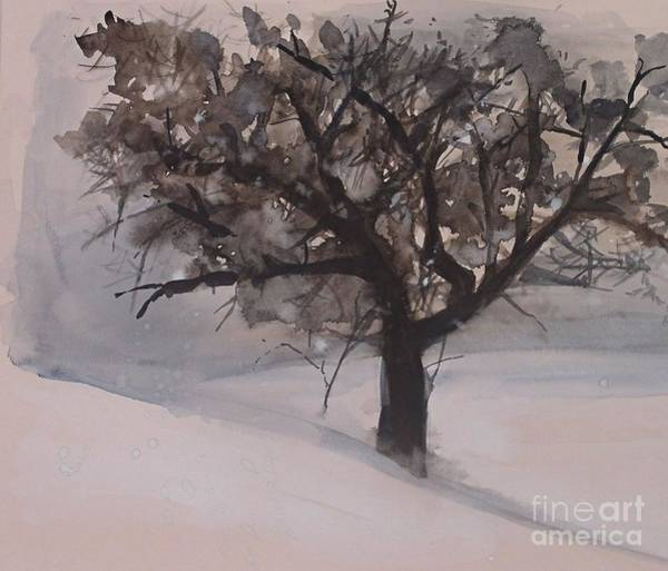 Painting - Winter Tree by Laurie Rohner