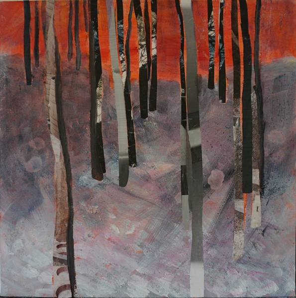 Mixed Media - Winter Trees 2 by Jillian Goldberg