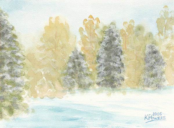 Painting - Winter Trees by Ken Powers