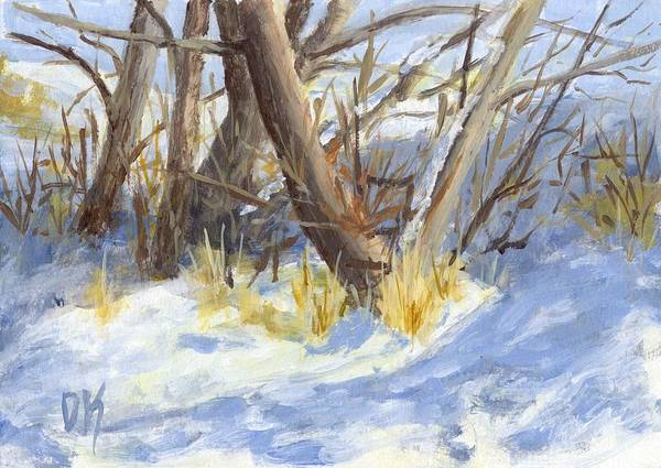 Painting - Winter Trunks by David King