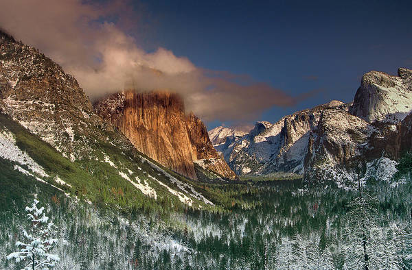 Photograph - Winter Tunnel View Yosemite National Park  by Dave Welling
