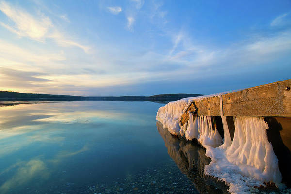 Photograph - Winter Wachusett Sunset 2 by Brian Hale