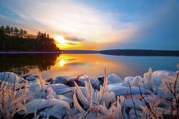 Photograph - Winter Wachusett Sunset 3 by Brian Hale