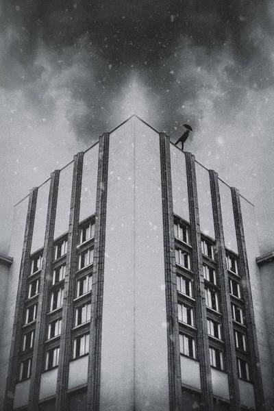 Digital Illustration Photograph - Winter Walk by Art of Invi