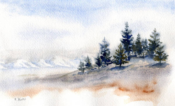 Winter Watercolor Painting Art Print