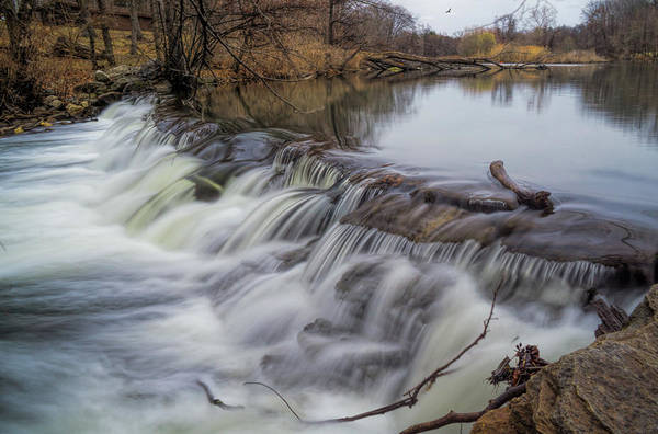 Spillway Photograph - Winter Waterfall by June Marie Sobrito