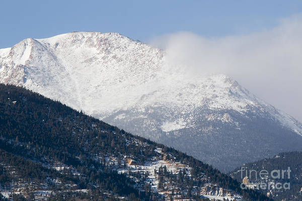 Photograph - Winter Weather On Pikes Peak Colorado by Steve Krull