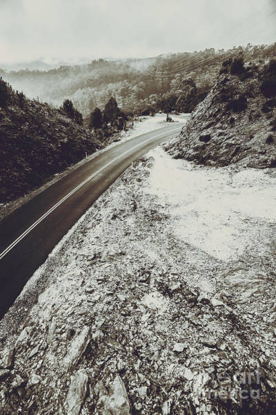 Wall Art - Photograph - Winter Weather Road by Jorgo Photography - Wall Art Gallery