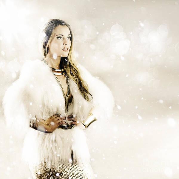Wall Art - Photograph - Winter Woman by Jorgo Photography - Wall Art Gallery