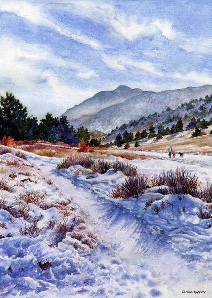 Wall Art - Painting - Winter Wonderland by Anne Gifford
