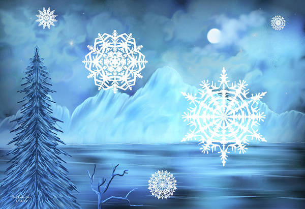 Digital Art - Winter Wonderland by Artful Oasis