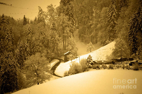 Photograph - Winter Wonderland In Switzerland - Up The Hills by Susanne Van Hulst
