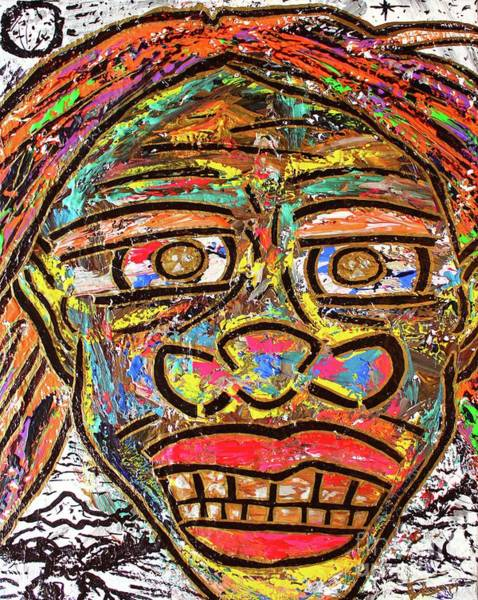 Painting - Winter Wonderland Man by Odalo Wasikhongo