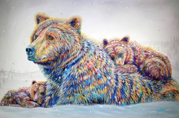 Twins Painting - Winter Wonderland by Teshia Art