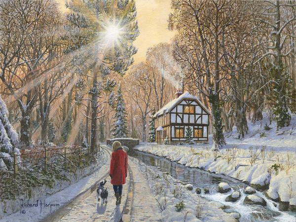 Golden Ratio Wall Art - Painting - Winter Woodland by Richard Harpum
