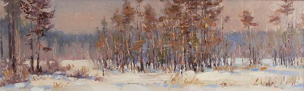 Painting - Winter Woods. Panorama by Valentina Kondrashova