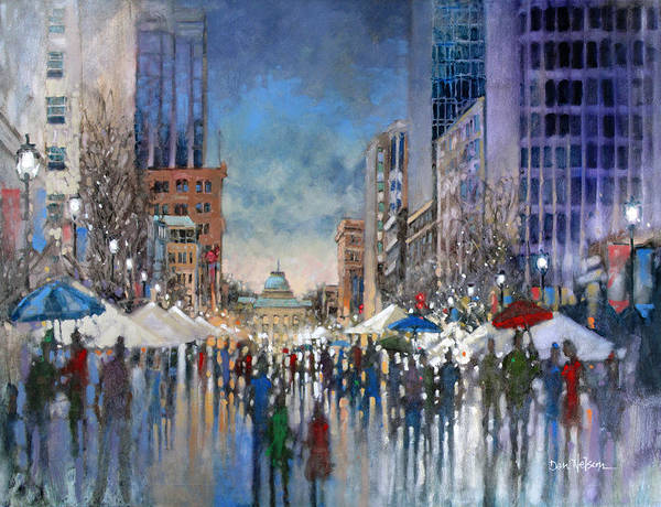 Wall Art - Painting - Winterfest 2014 by Dan Nelson