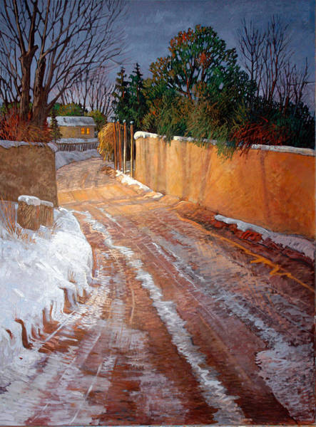 Adobe Walls Painting - Winterlight by Donna Clair