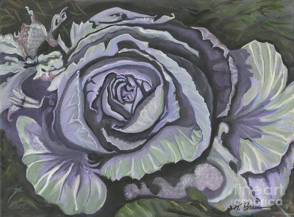Holly Brannan Wall Art - Painting - Winter's Cabbage by Holly Bartlett Brannan