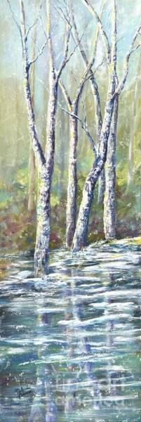 Wall Art - Painting - Winter's Edge by Malanda Warner