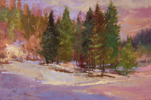 Painting - Winter's Eve Plein Air by Betty Jean Billups