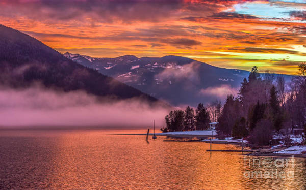Nelson Bc Photograph - Winter's Fire by Joy McAdams