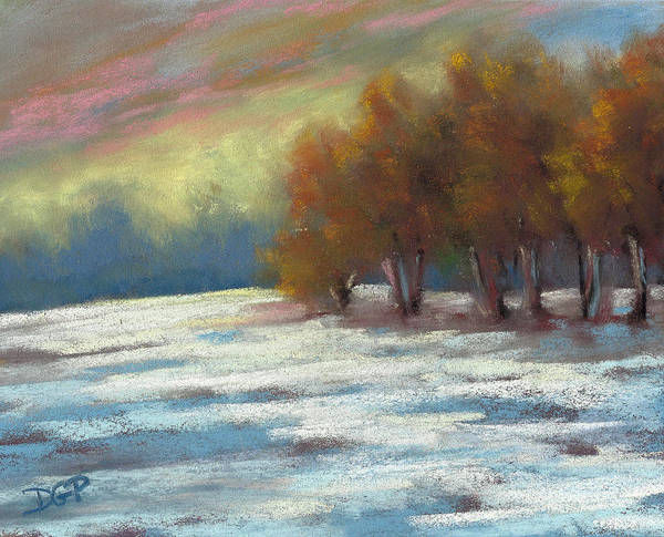 Wall Art - Painting - Winters First Touch by David G Paul