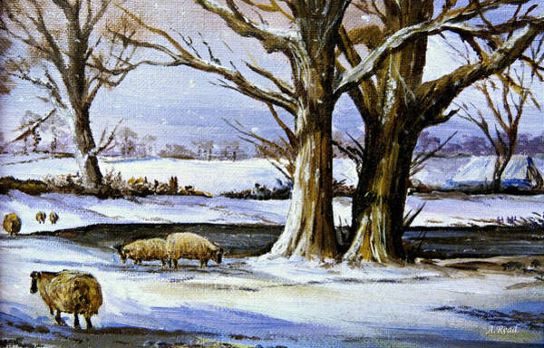 Wall Art - Painting - Winters Morning by Andrew Read