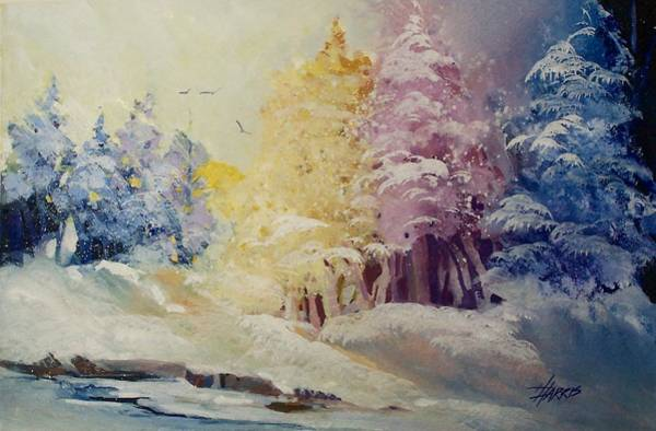 Painting - Winter's Pride by Helen Harris