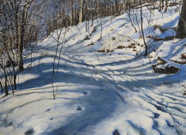Painting - Winter's Shadows by William Brody