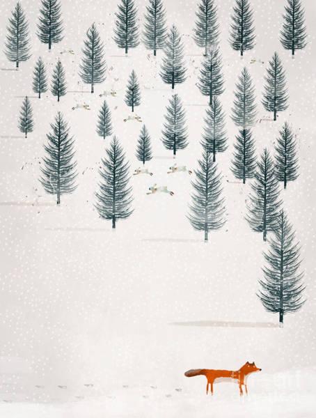 Wall Art - Painting - Winters Tale by Bri Buckley