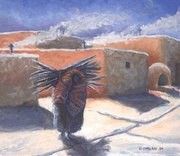 Adobe Walls Painting - Winter's Work by Jerry McElroy