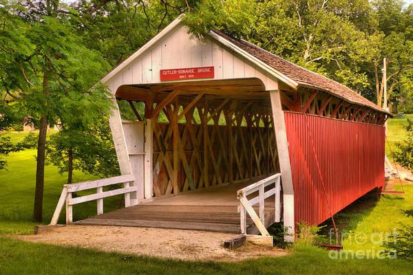 Photograph - Winterset Iowa Covered Bridge by Adam Jewell