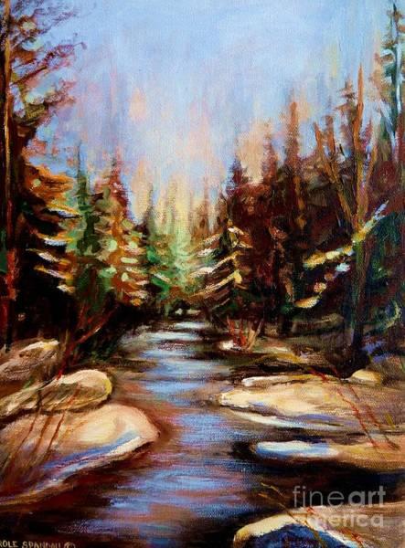 Painting - Winterstream by Carole Spandau