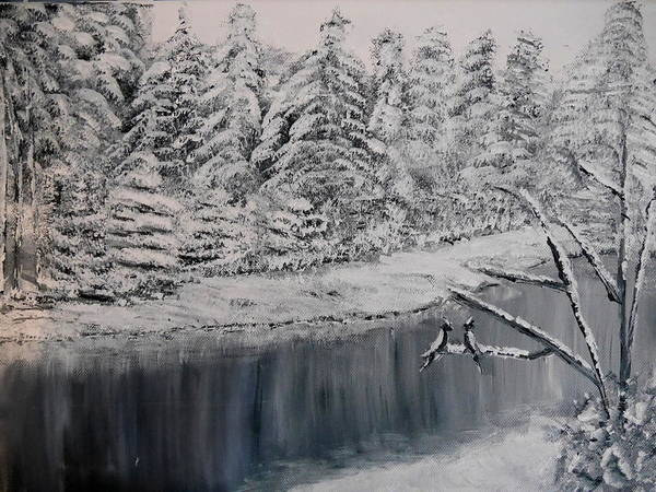 Painting - Wintertale by Bernd Hau