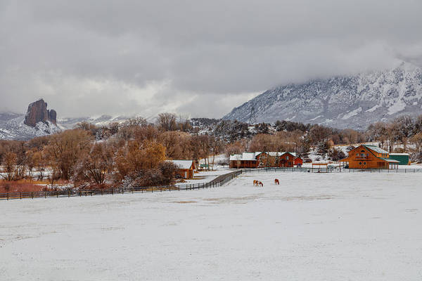 Photograph - Wintertime At The Ranch  by Jaquita Watters