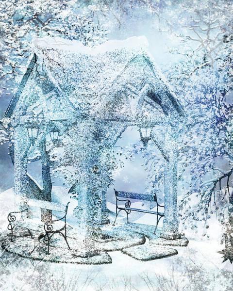 Park Bench Mixed Media - Wintery by Tammera Malicki-Wong