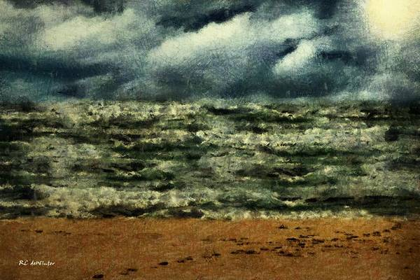 Painting - Winter Whitecaps by RC DeWinter