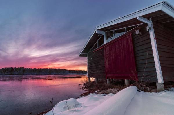 Cachalot Wall Art - Photograph - Wintry Boathouse by Dennis Wilkinson