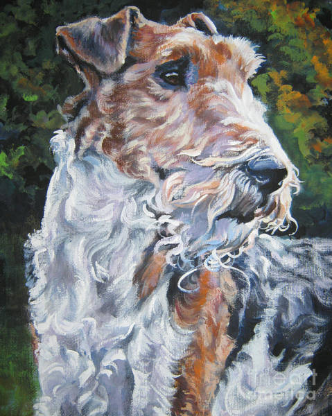 Wire Painting - Wire Fox Terrier by Lee Ann Shepard