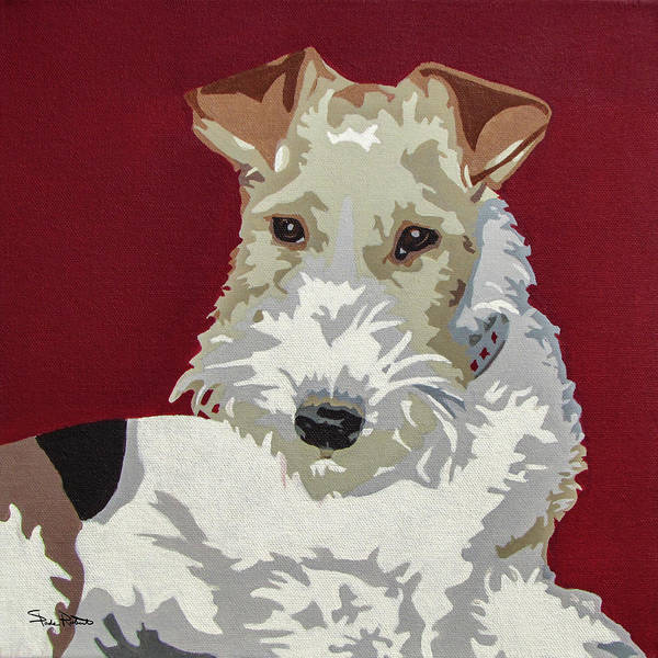 Wire Painting - Wirehaired Fox Terrier by Slade Roberts