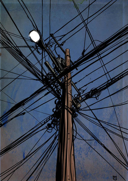 Urban Drawing - Wires 02 by Giuseppe Cristiano