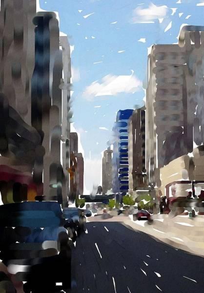 Digital Art - Wisconsin Ave 2 by Anita Burgermeister