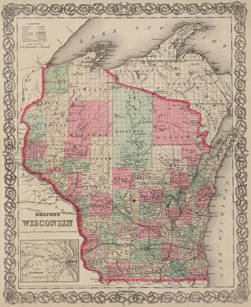 Wall Art - Painting - Wisconsin by Colton