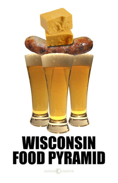 Photograph - Wisconsin Food Pyramid by Tim Nyberg