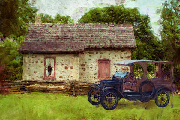 Beam Painting - Wisconsin Homestead 10 by Jack Zulli